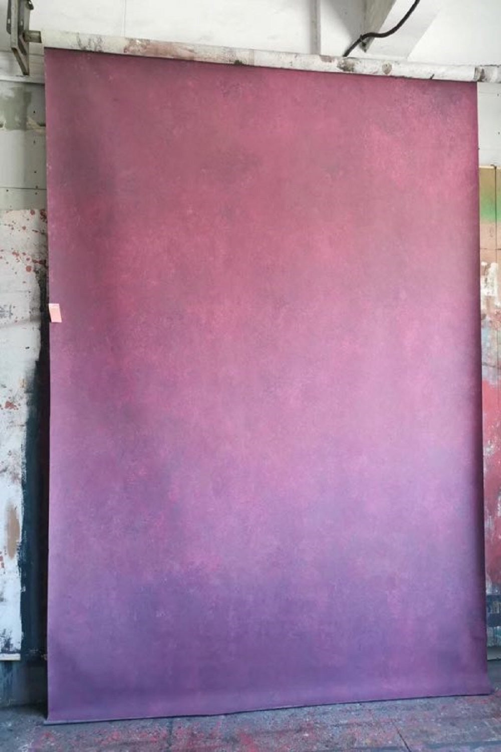 Clotstudio Abstract Gradient Pink Soft Texture Hand Painted Canvas Backdrop #clot 70