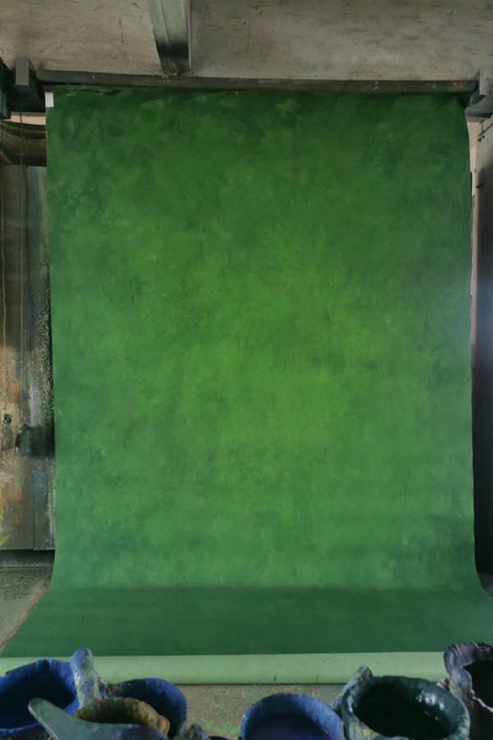 Clotstudio Abstract Deep Green Soft Texture Hand Painted Canvas Backdrop #clot 67-Low texture-CLOT STUDIO-custom hand painted canvas studio photo backdrops handmade photography backgrounds