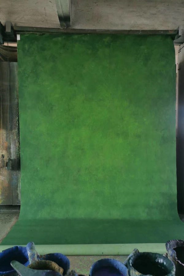 Clotstudio Abstract Deep Green Soft Texture Hand Painted Canvas Backdrop #clot 67
