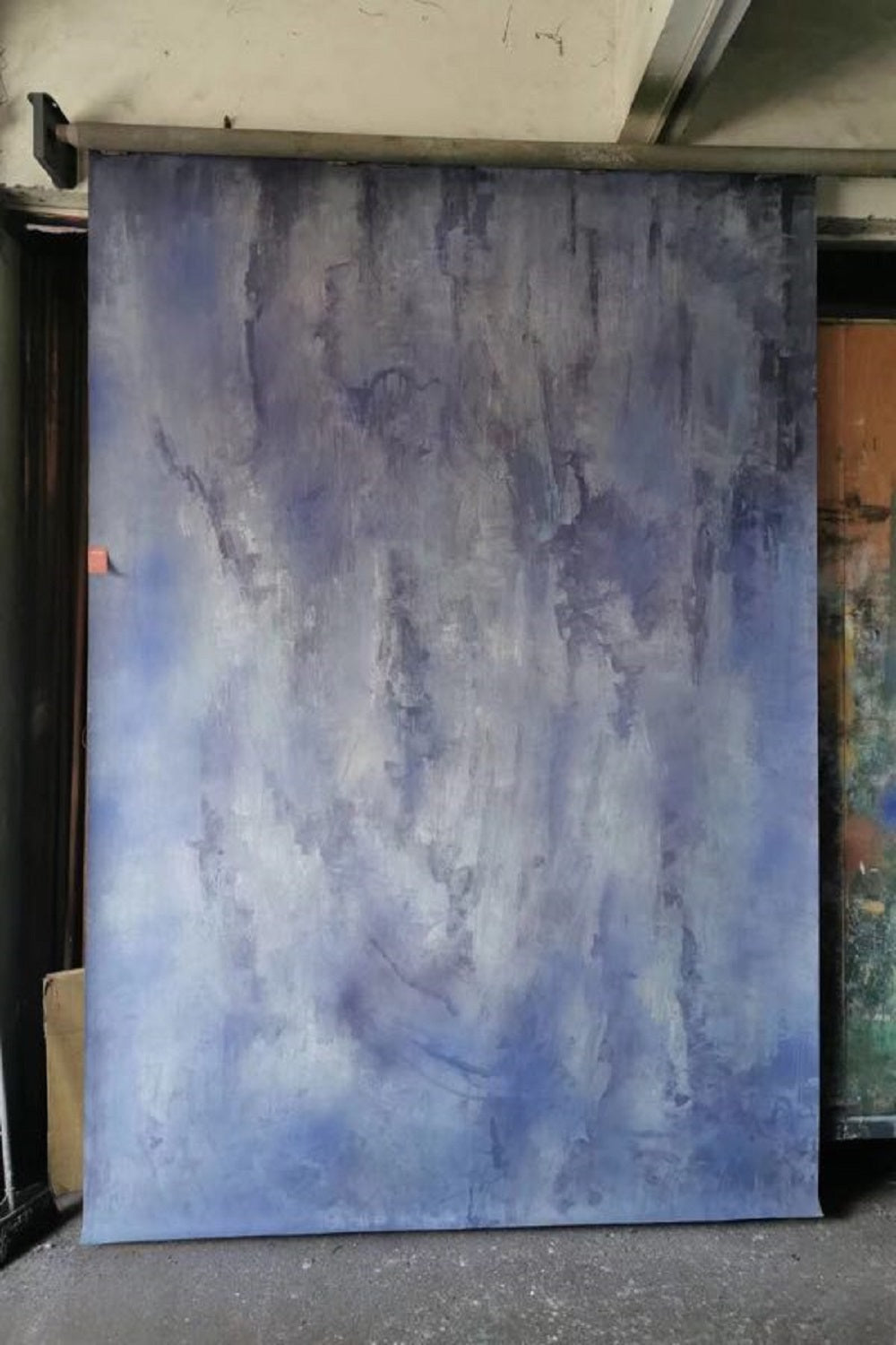 RTS-Clotstudio Abstract Purple Soft Texture Hand Painted Canvas Backdrop #clot 77