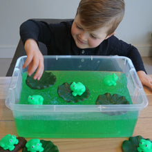 Load image into Gallery viewer, Frog in a Pond -  Sensory Bin Kit