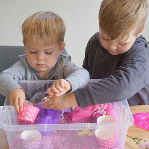 Content Only :  Magical Unicorn Wonderland - Sensory Bin Kit