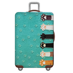Travel Luggage Cover African Black Women Paint Gemeotric Suitcase Protector