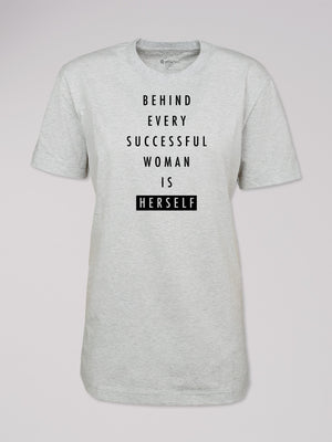 "T-Shirt ""behind every woman"""