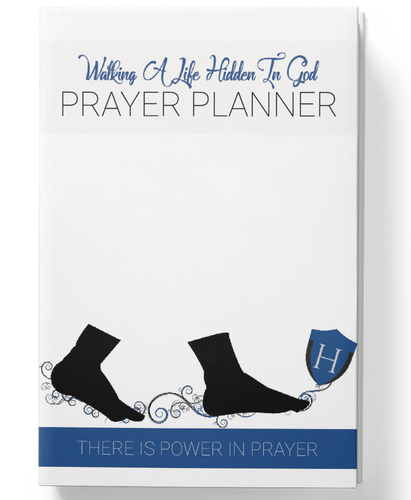 Soft Cover Hidden In God Prayer Planner - Mens Edition - Hidden In God