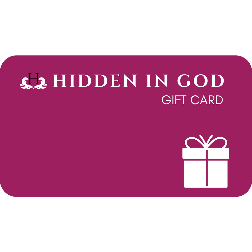 Hidden In God Gift Card - Hidden In God