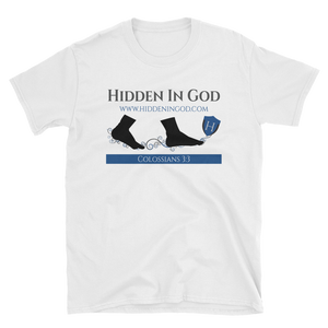 Hidden In God Blue Logo Tee - Hidden In God