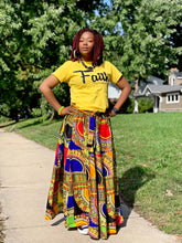 Traditional Patch-Print Maxi Skirt - Hidden In God