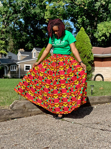 Kente Skirt - 8 Panel - Hidden In God