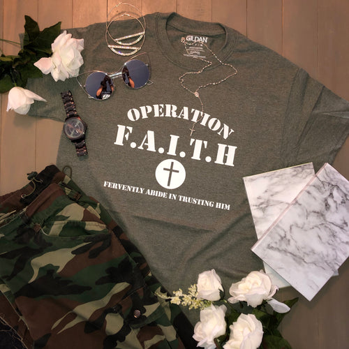 Operation Faith Unisex Tee - Hidden In God