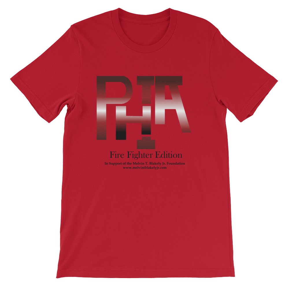 PHIA COLLECTION RED FIRE FIGHTER EDITION TEE - Hidden In God