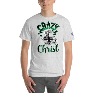 Green Crazy For Christ PHIA Collection Tee - Hidden In God