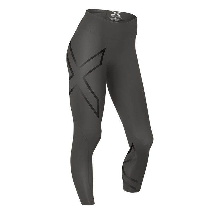 501bef3258 2XU Women's Mid-Rise Compression Tights - Steel/Black Reflective ...