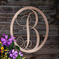 Simple and Elegant Metal Monogram