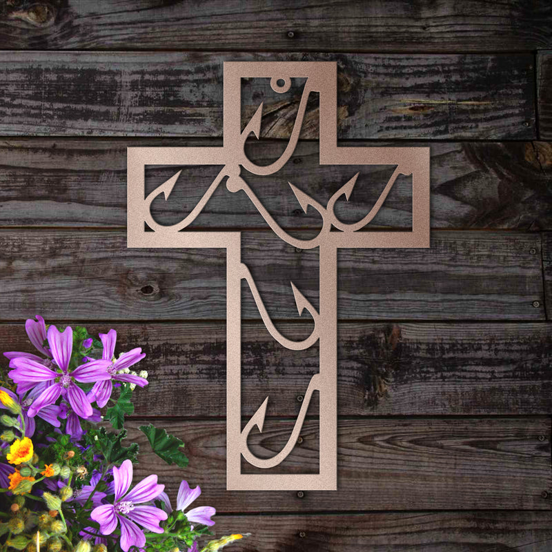Fishing & Faith Metal Wall Decor