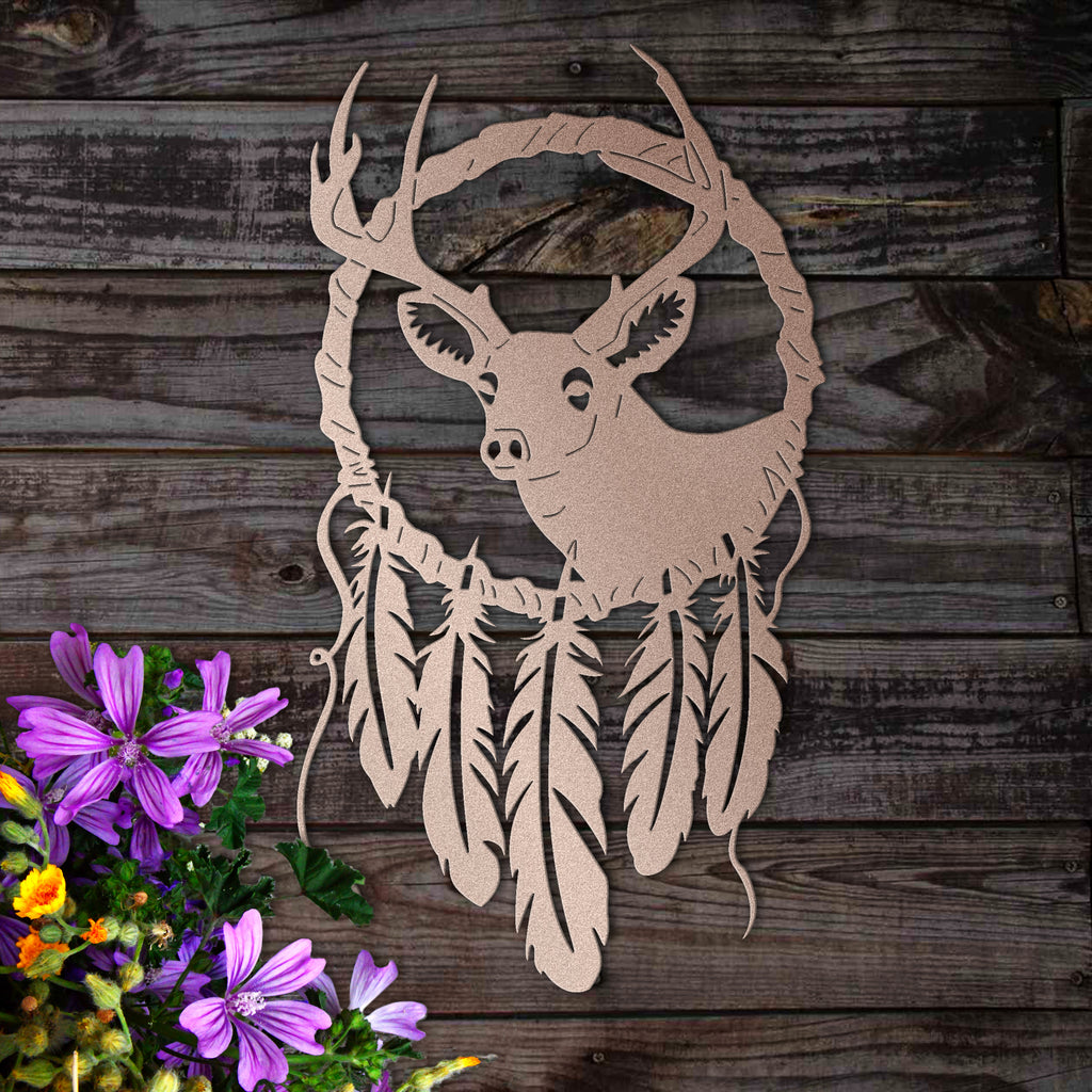 Metal Deer Dreamcatcher
