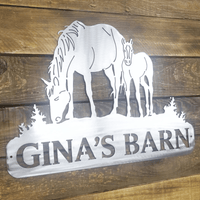 Personalized Horse Sign for Home or Barn