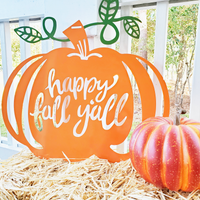 Happy Fall Y'all Pumpkin Porch Sign