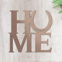Metal Horseshoe Home Sign