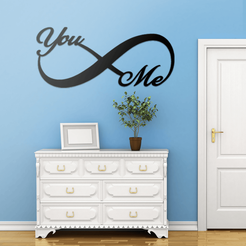 Elegant You & Me Metal Infinity Sign