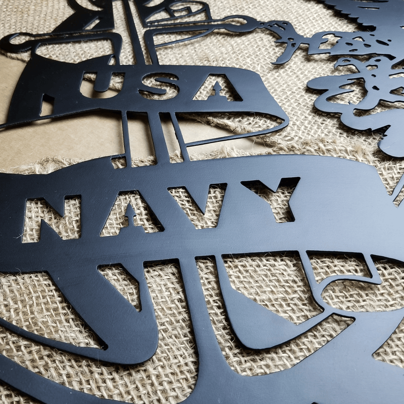 Metal Navy Emblem Wall Art