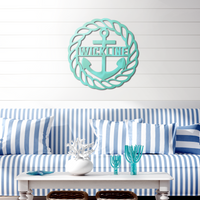 Custom Metal Anchor Beach House Sign
