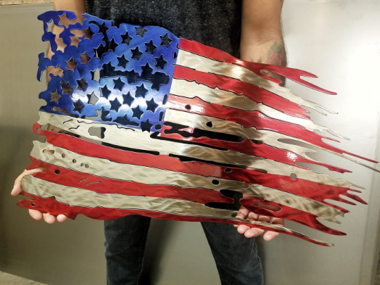 Distressed Tattered American Flag