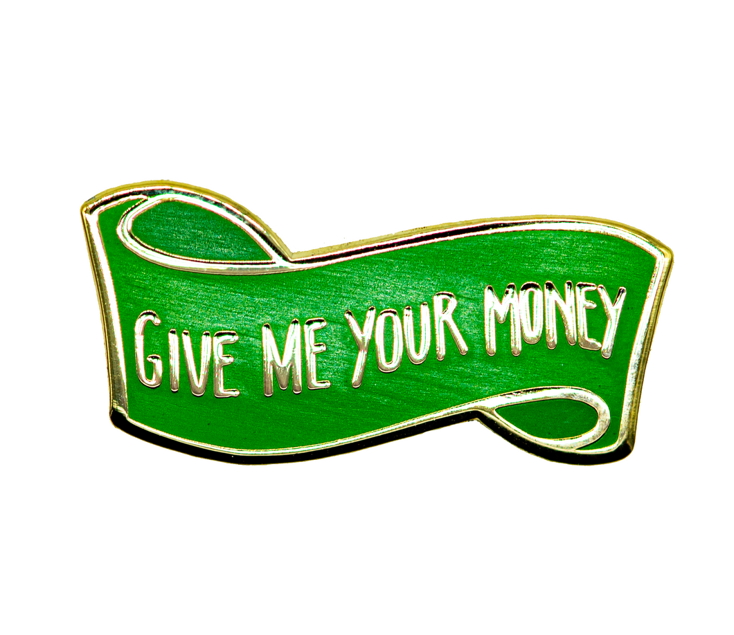 GMY$ Banner Gold & Green Hard Enamel Pin