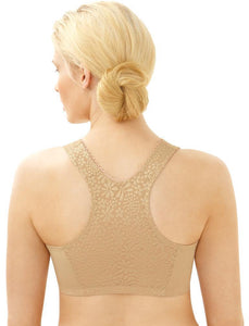 1908 Cotton T-Back Wireless Front Close Bra