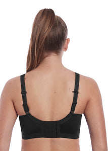 Dynamic Soft Cup Crop Top Sport Bra AC4014 - Black