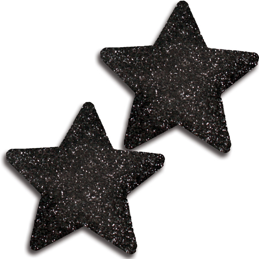 Glitter Star Pasties 31525 - Black