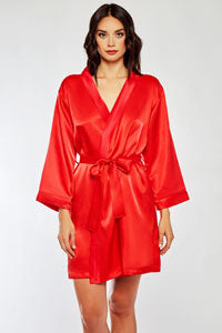 Satin Robe 7854 - Red