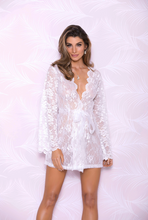 Load image into Gallery viewer, White Floral Lace Robe 7855