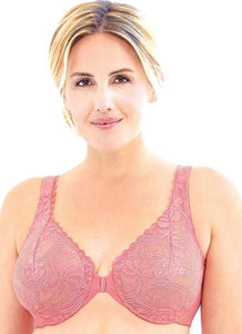 9245 Stretch Lace Front Close Wonderwire Bra - Apricot