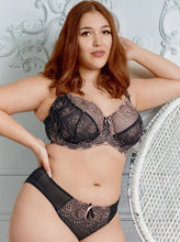 Load image into Gallery viewer, Nicole See-Thru Lace Bra - Black/Rose Gold