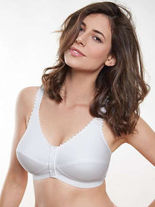 Comfi-Bra Front Closing Leisure or Sleep Bra - White