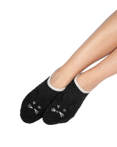 Coffee Shoppe Marshmallow Critter Footlet Slippers - Cat