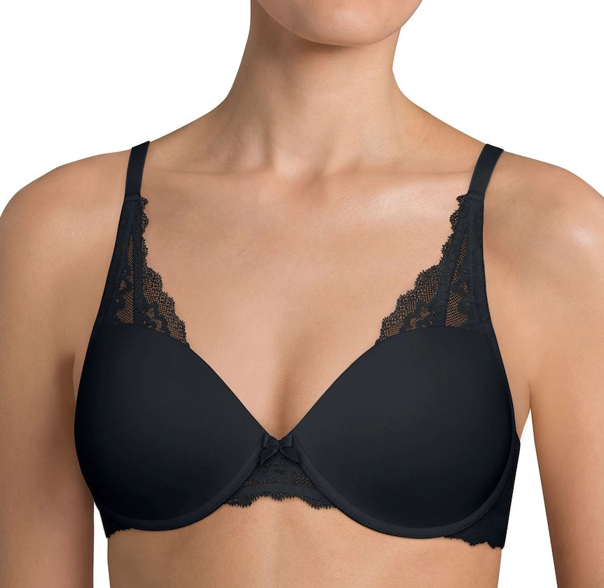 Endearing Lace Petite Push-Up Bra - Black