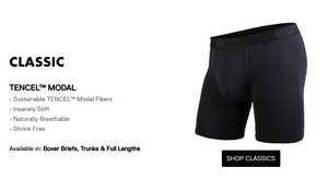 "BN3TH 6.5"" Classic Boxer Brief - Peaks Black"
