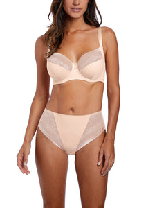 Illusion Side Support Bra - Beige