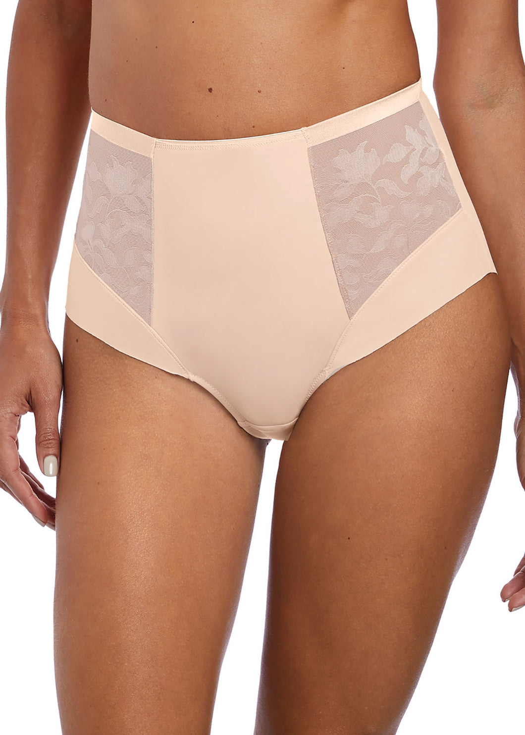 Illusion High Waist Brief FL2988 - Beige