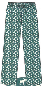 Mens Green Moose Flannel P.J. Pant
