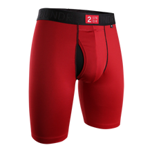 "Load image into Gallery viewer, 2UNDR 9"" Power Shift Boxer Brief - Crimson"