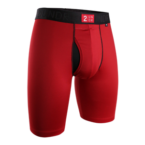 "2UNDR 9"" Power Shift Boxer Brief - Crimson"