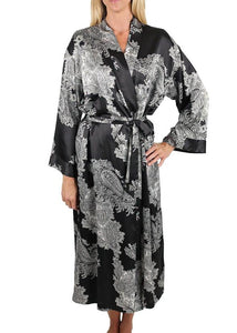 Raeanna Long Robe 30593 - Black with Silver