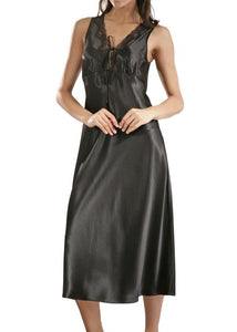 Raeanna Long Nightgown 30585 - Black