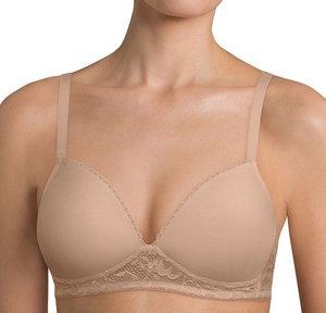 Endearing Lace Wireless Bra 90007 - Smooth Skin