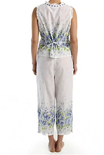 Load image into Gallery viewer, 100% Cotton Border Print Sleeveless Pajamas 1487-2 - Meadow Mist