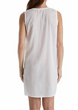 Load image into Gallery viewer, 100% Cotton Woven Sleeveless Embroidered Gown 1104C - White
