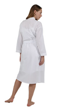 Load image into Gallery viewer, 100% Cotton Embroidered Robe 1187R - White